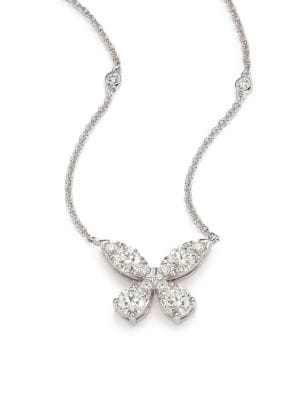 Aerial Diamond & 18K White Gold Necklace