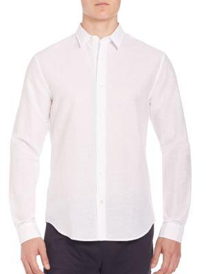 Melrose Linen-Blend Sportshirt