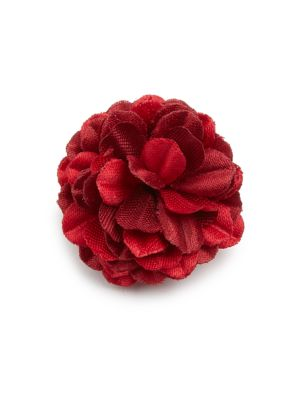 Mini Red Flower Lapel Pin