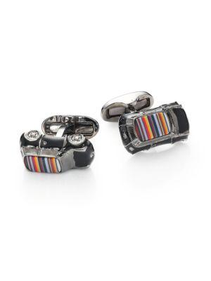 Striped Car Cuff Links