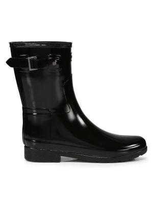 Refined Short Gloss Rain Boots