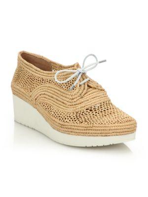 Vicolek Raffia Wedge Sneakers