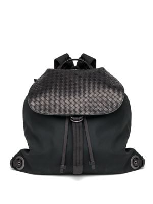 Woven Flap Backpack