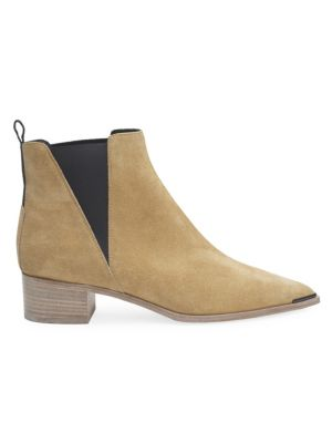Jensen Suede Metal-Tip Ankle Boots
