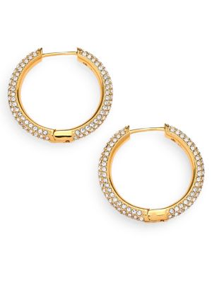 Pavé Hoop Earrings/0.8