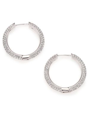 Pavé Crystal Hoop Earrings/0.9