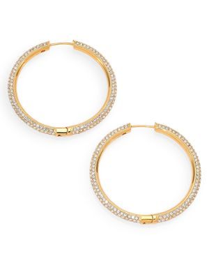 Pavé Hoop Earrings/1.4