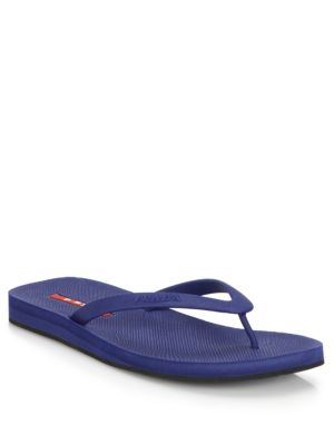 Saffiano Rubber Flip Flops