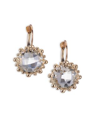 Dew Drop White Topaz & 14K Yellow Gold Earrings