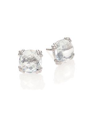 Dew Drop White Topaz Stud Earrings