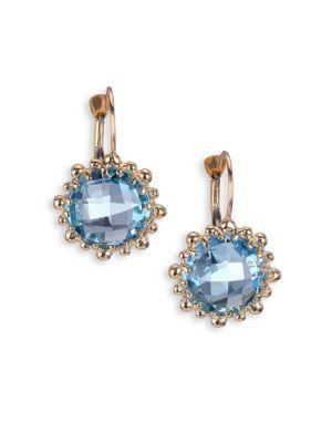 Dew Drop Sky Blue Topaz & 14K Yellow Gold Earrings