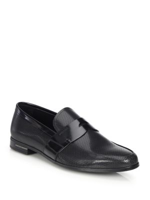 Diamond Pattern Loafers