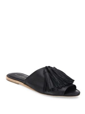 Kiki Tassel Leather Slides