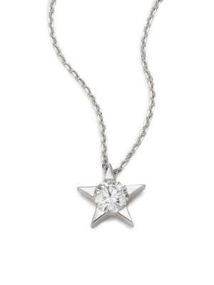 Illa Diamond & 18K White Gold Pendant Necklace