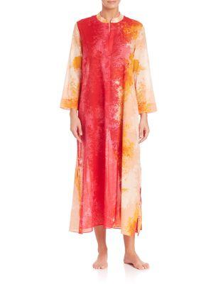 Floral Stream Cotton Caftan plus size,  plus size fashion plus size appare