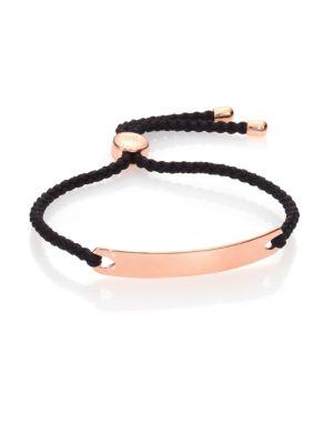 Havana Hammered 18K Rose Gold Vermeil Friendship Bracelet/Black