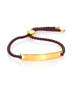 Havana Hammered 18K Yellow Gold Vermeil Friendship Bracelet/Taupe