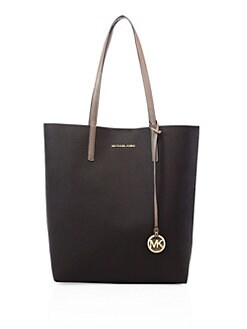 Hayley Large Two-Tone Faux Leather Tote
