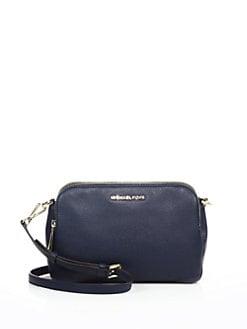 MICHAEL MICHAEL KORS Bedford Medium Double-Zip Leather Messenger Bag ... cdaa9b8f25bb1