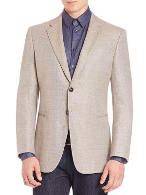 Micro Check Wool Jacket