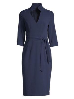 Madeline Tie-Front Sheath Dress
