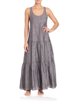 Tiered Linen Dress by Lisa Marie Fernandez