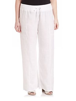 Eileen fisher linen pants plus size