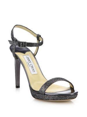 Claudet 100 Lamé Sandals