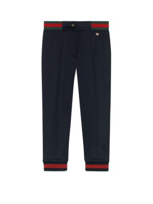 gucci girls 201920 little girls girls embroidered heart detail jogger pants