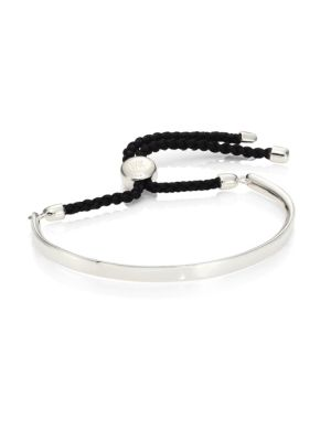 Fiji Sterling Silver Friendship Bracelet/Black