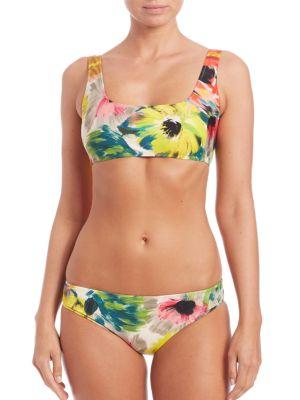Two-Piece Floral-Print Sport Bikini plus size,  plus size fashion plus size appare