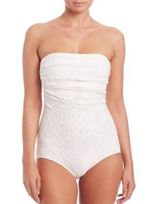 One-Piece Convertible Bandeau Swimsuit plus size,  plus size fashion plus size appare