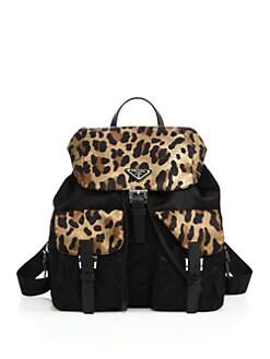 pink prada backpack
