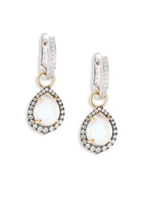 Annoushka Diamond & Moonstone Earring Drops