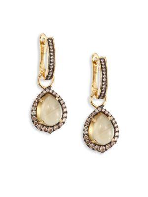 Annoushka Diamond & Olive Quartz Drop Earrings