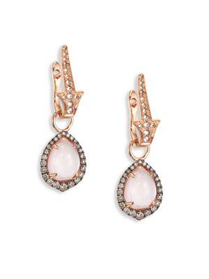 Annoushka Diamond & Rose Quartz Earring Drops