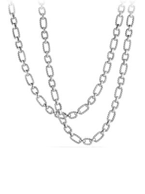 Cushion Link Chain Necklace with 18K Gold
