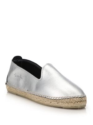 Los Angeles Metallic Leather Espadrille Flats