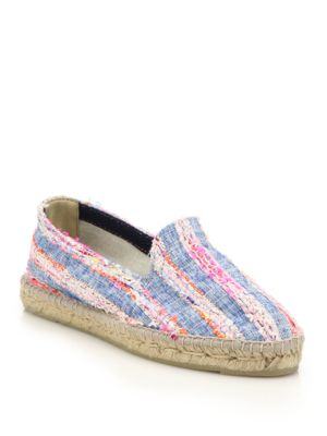 Ibiza Tweed & Denim Stripe Espadrille Flats