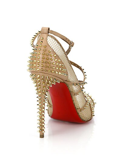 25cf25b0d10b christian louboutin alarc spiked strappy mesh sandals