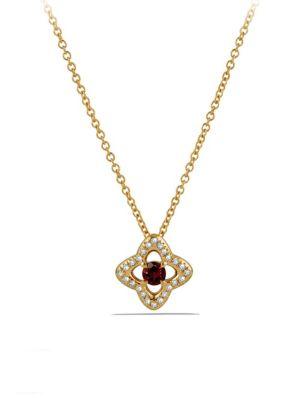 Venetian Quatrefoil Garnet Necklace