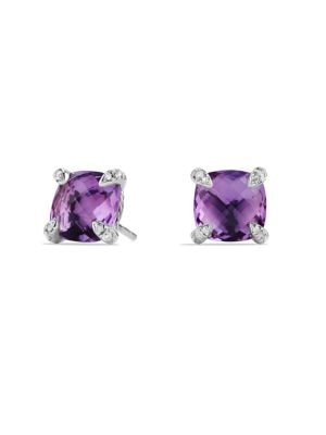 Châtelaine Earrings with Amethyst and Diamonds