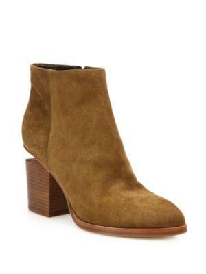 Gabi Suede Block Heel Booties