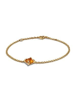 Châtelaine Bracelet with Citrine and Diamonds in 18K Gold