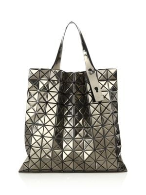 Platinum Metallic Faux Leather Tote