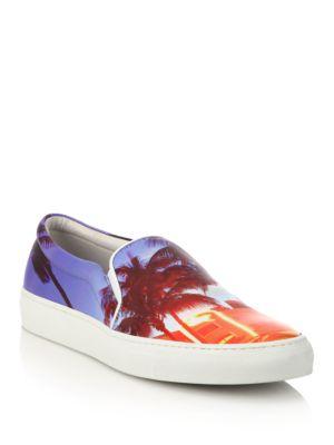 Ocean Drive Leather Slip-On Sneakers