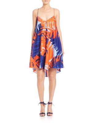N / NICHOLAS Palm Crepe Diamond Dress