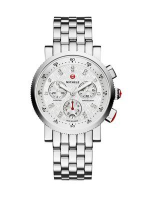 Sport Sail 18 Diamond & Stainless Steel Chronograph Bracelet Watch