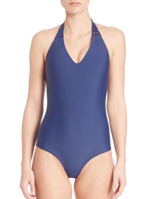 One-Piece Mediterranean Swimsuit