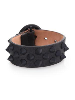 Sport Spiked Leather Cuff Bracelet